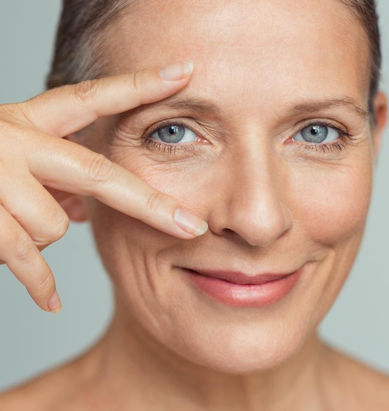 Faltenunterspritzung Augen